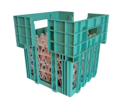 Egg transport box green